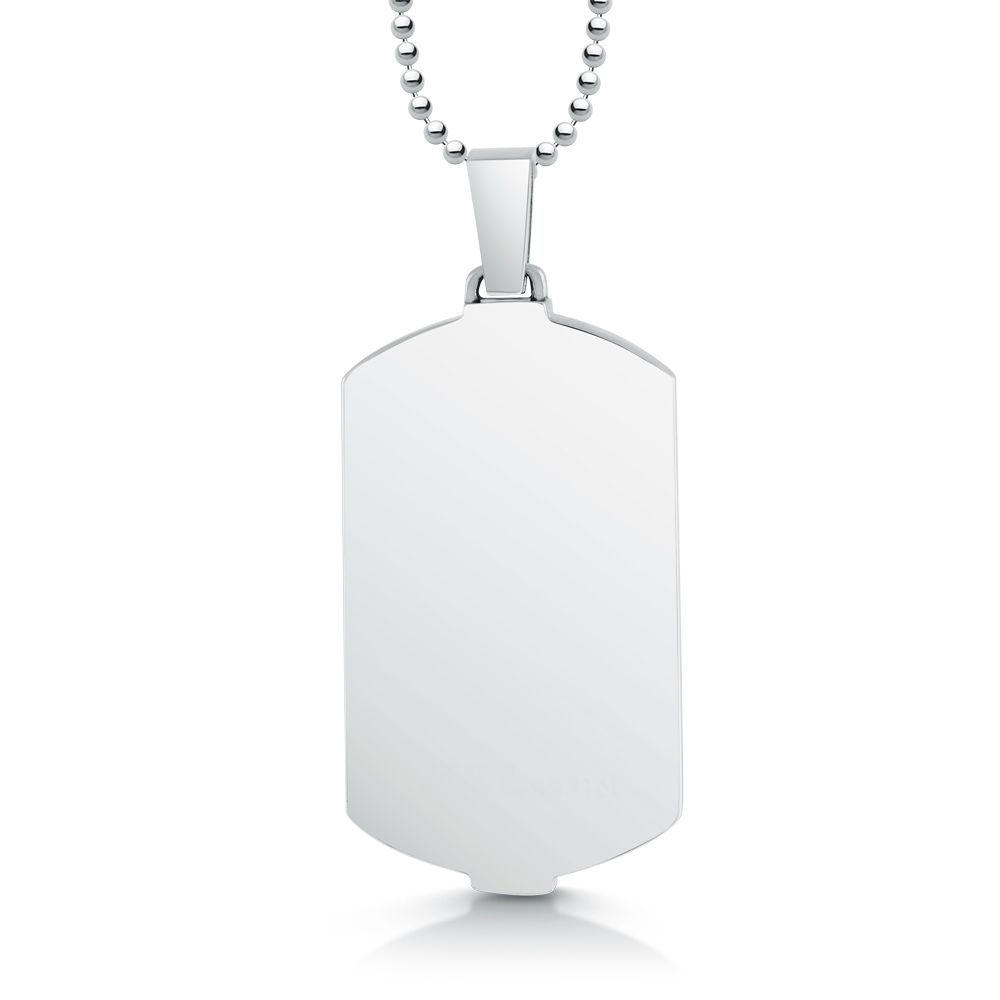 World map dog tag personalised stainless steel view basket new account sign in freerunsca Gallery